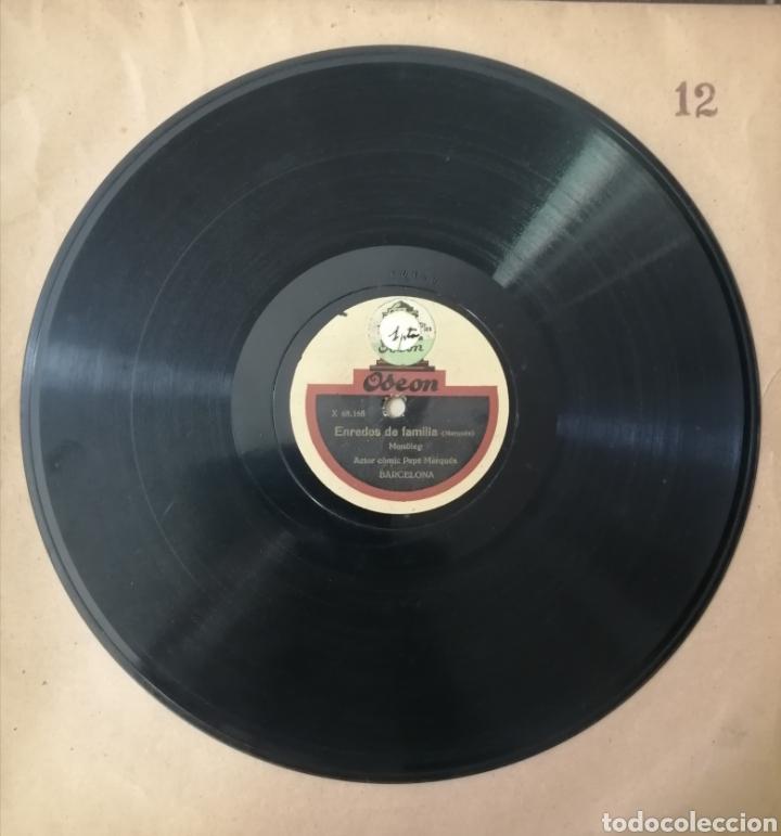 Discos de pizarra: 78 rpm Disco de pizarra. Un pagès a Barcelona / Enredos de Familia. Odeon - Foto 2 - 192975167