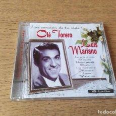Discos de pizarra: LUIS MARIANO LA CANCION DE TU VIDA OLE TORERO CD ALBUM 2005 HECHO EN ESPAÑA CONTIENE 16 TEMAS. Lote 210607386