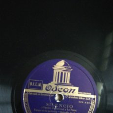 Discos de pizarra: DISCO DE PIZARRA 78RPM IMPERIO ARGENTINA-MORUCHA/SILENCIO. Lote 193420252