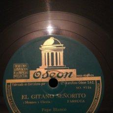 Discos de pizarra: DISCO PIZARRA DE 78RPM-PEPE BLANCO- LA TRINI/EL GITANO SEÑORITO. Lote 193757960