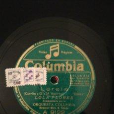 Discos de pizarra: DISCO PIZARRA 78RPM-LOLA FLORES-CUNA CAÑÍ/LERELE. Lote 193760116