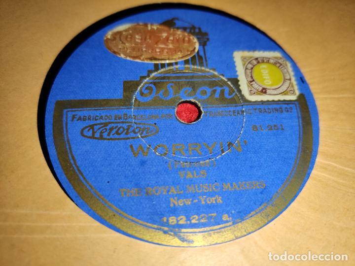 THE ROYAL MUSIC MAKERS WORRYIN /I LOVE NO ONE BUT YOU 10 25 CTMS ODEON 182.227 ESPAÑA SPAIN (Música - Discos - Pizarra - Jazz, Blues, R&B, Soul y Gospel)