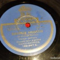 Disques en gomme-laque: ORQ.TIPICA ARGENTINA BIANCO BACHICHA LA PAYUELA RAYUELA/BANDONEON ARRABALERO 10 25 CTMS 182.267 SP. Lote 193791760