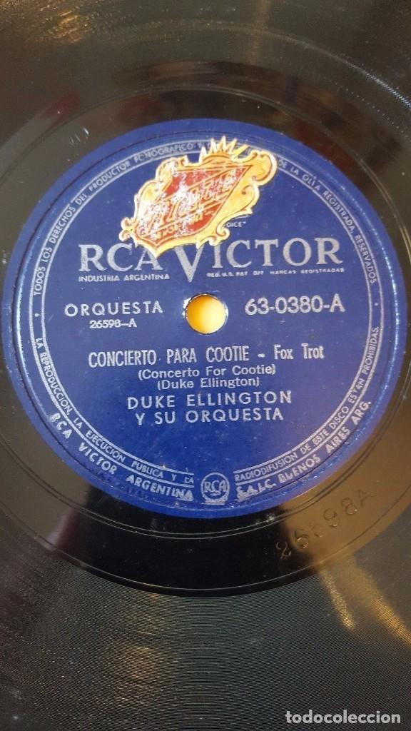 DISCO 78 RPM - RCA VICTOR - DUKE ELLINGTON - ORQUESTA - CONCIERTO PARA COOTIE - TU Y YO - PIZARRA (Música - Discos - Pizarra - Jazz, Blues, R&B, Soul y Gospel)