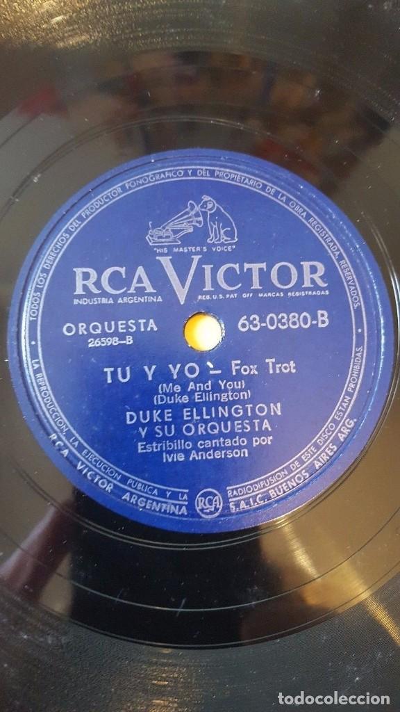 Discos de pizarra: DISCO 78 RPM - RCA VICTOR - DUKE ELLINGTON - ORQUESTA - CONCIERTO PARA COOTIE - TU Y YO - PIZARRA - Foto 2 - 193793666