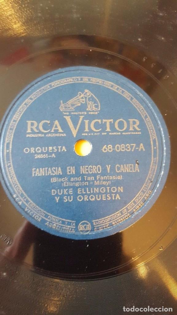 DISCO 78 RPM - RCA VICTOR - DUKE ELLINGTON - ORQUESTA - FANTASIA EN NEGRO Y CANELA - JAZZ - PIZARRA (Música - Discos - Pizarra - Jazz, Blues, R&B, Soul y Gospel)