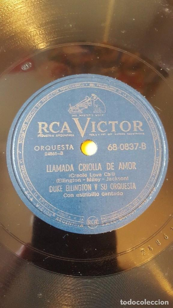 Discos de pizarra: DISCO 78 RPM - RCA VICTOR - DUKE ELLINGTON - ORQUESTA - FANTASIA EN NEGRO Y CANELA - JAZZ - PIZARRA - Foto 2 - 193796253
