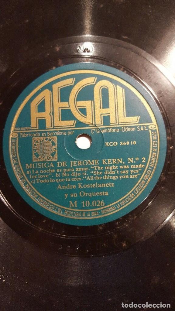 DISCO 78 RPM - REGAL - ANDRE KOSTELANETZ - ORQUESTA - MUSICA DE JEROME KERN - JAZZ - PIZARRA (Música - Discos - Pizarra - Jazz, Blues, R&B, Soul y Gospel)