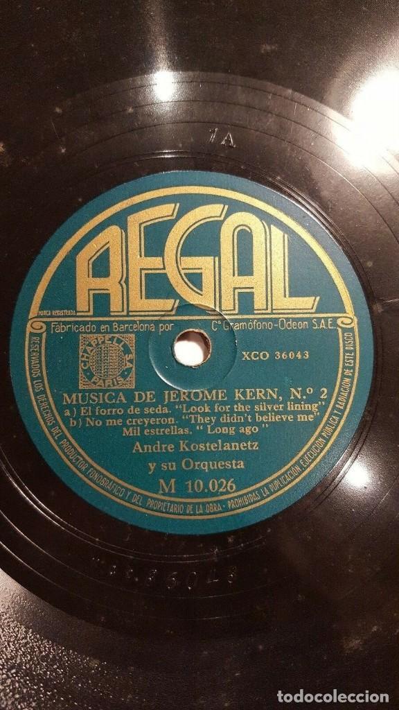Discos de pizarra: DISCO 78 RPM - REGAL - ANDRE KOSTELANETZ - ORQUESTA - MUSICA DE JEROME KERN - JAZZ - PIZARRA - Foto 2 - 193802981