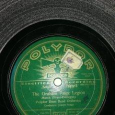 Discos de pizarra: DISCO PIZARRA DE 78RPM-MARCHAS MILITARES-EL PUENTE SOBRE EL RIO KWAIT.. Lote 193861343