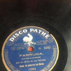 Discos de pizarra: FARRUCA POR LA NIÑA DE LOS PEINES. Lote 193924460