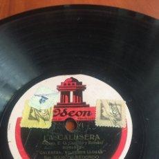 Discos de pizarra: LA CALESERA MARCOS REDONDO. Lote 193938690