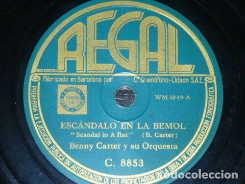 DISCO 78 RPM - REGAL - BENNY CARTER - ORQUESTA - SAVOY STAMPEDE - ESCANDALO EN LA BEMOL - PIZARRA (Música - Discos - Pizarra - Jazz, Blues, R&B, Soul y Gospel)