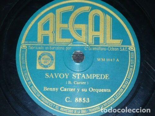 Discos de pizarra: DISCO 78 RPM - REGAL - BENNY CARTER - ORQUESTA - SAVOY STAMPEDE - ESCANDALO EN LA BEMOL - PIZARRA - Foto 2 - 193950275