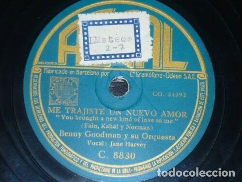 Discos de pizarra: DISCO 78 RPM - REGAL - BENNY GOODMAN - ORQUESTA - ME TRAJISTE UN NUEVO AMOR - JAZZ - PIZARRA - Foto 2 - 193953956