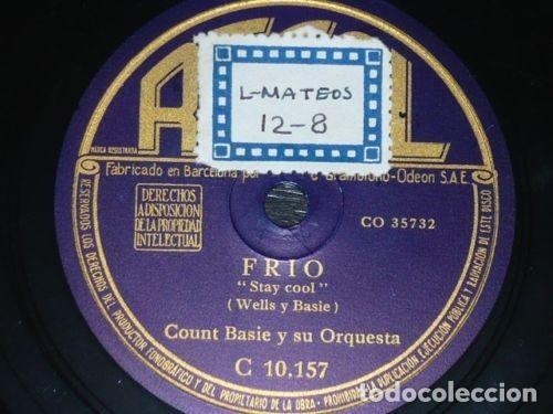 Discos de pizarra: DISCO 78 RPM - REGAL - COUNT BASIE - ORQUESTA - BUGUI LOCO - FRIO - JAZZ - PIZARRA - Foto 2 - 193960037