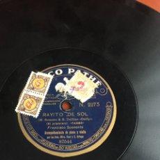 Discos de pizarra: RATITO DE SOL FRANCISCO SPAVENTA. Lote 194060626