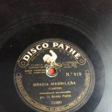 Discos de pizarra: GRACIA MADRILEÑA. Lote 194061231