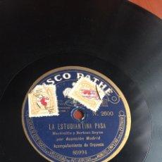 Discos de pizarra: LA ESTUDIANTINA PASA POR ASUNCIÓN MADRID. Lote 194061411