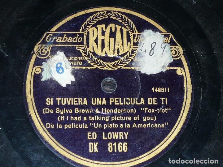 DISCO 78 RPM - REGAL - ED LOWRY - UN PLATO A LA AMERICANA - FILM - FOXTROT - JAZZ - PIZARRA (Música - Discos - Pizarra - Jazz, Blues, R&B, Soul y Gospel)