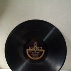 Discos de pizarra: DISCO DE PIZARRA ODEON FABRIQUÉ EN FRANCE. Lote 194105535