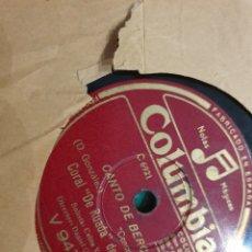 Discos de pizarra: 78 RPM REGIONAL GALICIA.. Lote 194195405