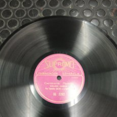 Discos de pizarra: 2 MONÓLOGOS CÓMICOS. POR TERESITA CALVO J CAPELLA. SUPREMO.. Lote 194203181