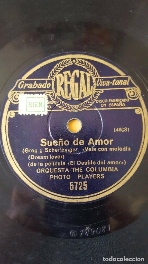 Discos de pizarra: DISCO 78 RPM - REGAL - ORQUESTA THE COLUMBIA PHOTO PLAYERS - DESFILE DEL AMOR - FILM - PIZARRA - Foto 2 - 194230968