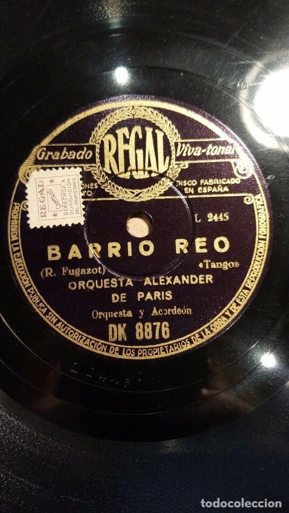 DISCO 78 RPM - REGAL - ORQUESTA ALEXANDER - PARIS - JAZZ - BARRIO REO - TANGO - PIZARRA (Música - Discos - Pizarra - Jazz, Blues, R&B, Soul y Gospel)