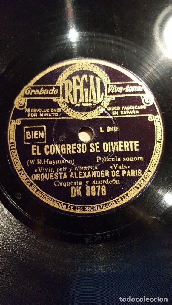 Discos de pizarra: DISCO 78 RPM - REGAL - ORQUESTA ALEXANDER - PARIS - JAZZ - BARRIO REO - TANGO - PIZARRA - Foto 2 - 194234292