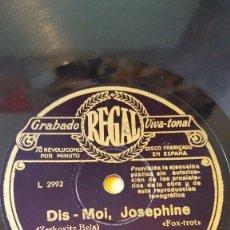 Discos de pizarra: DISCO 78 RPM - REGAL - ORQUESTA ALEXANDER - PARIS - DIS MOI, JOSEPHINE - LA POIVRADE - FOX - PIZARRA. Lote 194279607