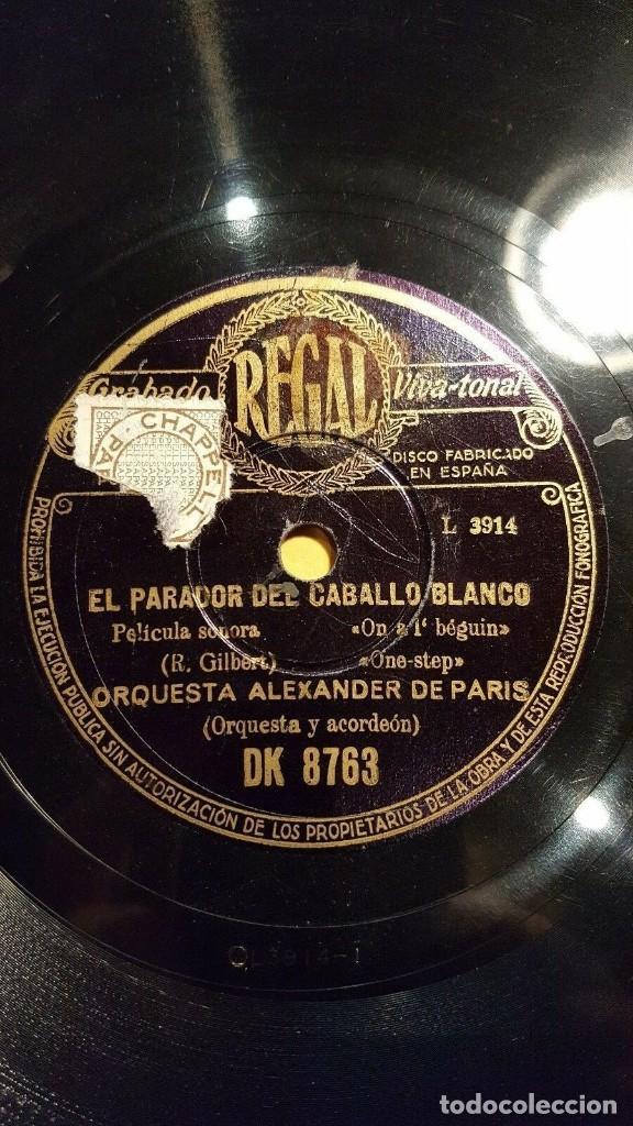 DISCO 78 RPM - REGAL - ORQUESTA ALEXANDER - PARIS - EL PARADOR DEL CABALLO BLANCO - JAZZ - PIZARRA (Música - Discos - Pizarra - Jazz, Blues, R&B, Soul y Gospel)