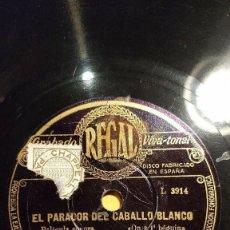 Discos de pizarra: DISCO 78 RPM - REGAL - ORQUESTA ALEXANDER - PARIS - EL PARADOR DEL CABALLO BLANCO - JAZZ - PIZARRA. Lote 194280910