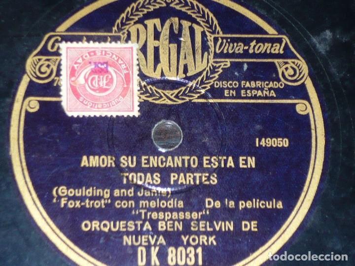 Discos de pizarra: DISCO 78 RPM - REGAL - ORQUESTA BEN SELVIN - NEW YORK - UN PLATO A LA AMERICANA - FILM - PIZARRA - Foto 2 - 194284292