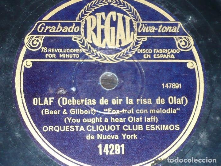 DISCO 78 RPM - REGAL - ORQUESTA CLIQUOT CLUB ESKIMOS - NUEVA YORK - OLAF - FOXTROT - PIZARRA (Música - Discos - Pizarra - Jazz, Blues, R&B, Soul y Gospel)
