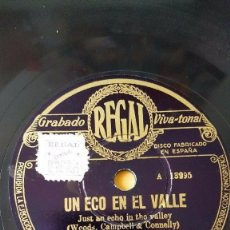 Discos de pizarra: DISCO 78 RPM - REGAL - ORQUESTA HENRY HALL - LONDRES - UN ECO EN EL VALLE - FOXTROT - PIZARRA. Lote 194288513