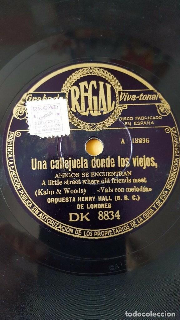 Discos de pizarra: DISCO 78 RPM - REGAL - ORQUESTA HENRY HALL - LONDRES - UN ECO EN EL VALLE - FOXTROT - PIZARRA - Foto 2 - 194288513