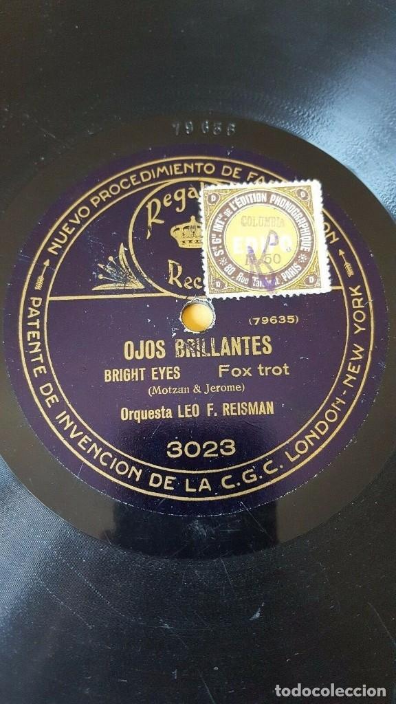Discos de pizarra: DISCO 78 RPM - REGAL - ORQUESTA YERKES JAZARIMBA - ORQUESTA LEO F. REISMAN - ROSIE - JAZZ - PIZARRA - Foto 2 - 194291005
