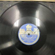 Discos de pizarra: DISCO DE PIZARRA. YO QUIERO VER CHICAGO Y AY TOMASA. BANDA MARTÍN DOMINGO Y CORO. 182.711. ODEÓN.. Lote 194319182