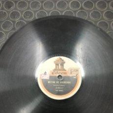 Discos de pizarra: DISCO DE PIZARRA. SELLO ODEÓN. MUSIC HALL Y MITING COCHEROS, ESCENA CÓMICA MORENO. NÚMERO: 101.921. Lote 194320276