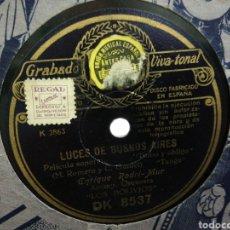 Discos de pizarra: DISCO DE PIZARRA LOS BOLIVIOS LUCES DE BUENOS AIRES. Lote 194331525