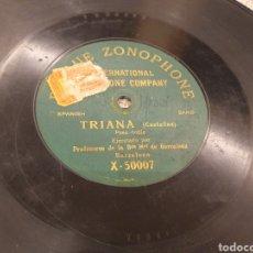 Discos de pizarra: 78 RPM TRIANA/ PASODOBLE. Lote 194570406