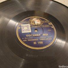Discos de pizarra: 78 RPM LOS TROVADORES TAMAULIPECOS. Lote 194570835