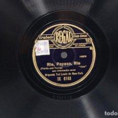 Discos de pizarra: DISCO PIZARRA ORQUESTA TED LEWIS DE NEW YORK.. Lote 194614845