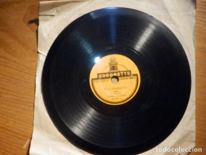 DISCO PIZARRA - SINGLE - 30.004 ODEONETTE - COMO LOS PÁJAROS CANTAN JOTA P. DUARTE . ACOMP RONDALLA (Música - Discos - Pizarra - Flamenco, Canción española y Cuplé)