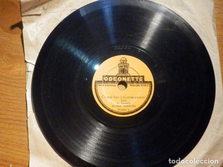Discos de pizarra: Disco Pizarra - Single - 30.004 Odeonette - Como los pájaros cantan Jota P. Duarte . Acomp Rondalla - Foto 3 - 194642171