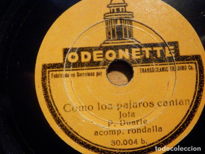 Discos de pizarra: Disco Pizarra - Single - 30.004 Odeonette - Como los pájaros cantan Jota P. Duarte . Acomp Rondalla - Foto 4 - 194642171