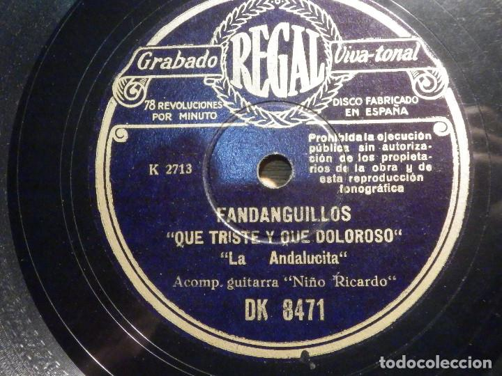 Discos de pizarra: Disco Pizarra - Regal DK 8471 - La andalucita - Soldado Herido - Que triste y que doloroso - Foto 2 - 194642493
