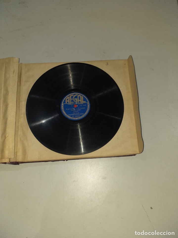 Discos de pizarra: Álbum de 12 discos de pizarra antiguos ver las fotos - Foto 8 - 194643898