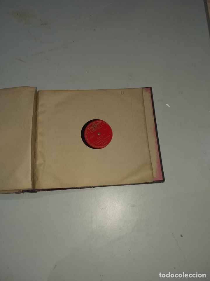Discos de pizarra: Álbum de 12 discos de pizarra antiguos ver las fotos - Foto 23 - 194643898